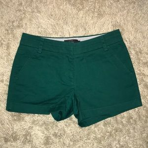 J. Crew Dark Green Chino Shorts